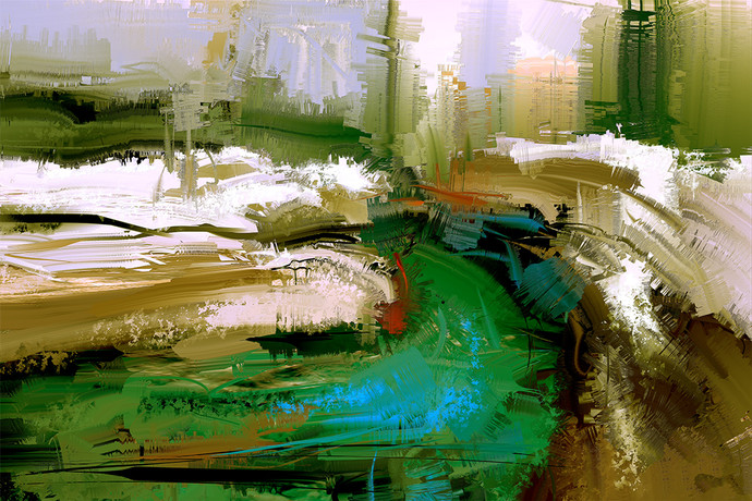 Abstract Landscape Digital Print by The Print Studio,Abstract