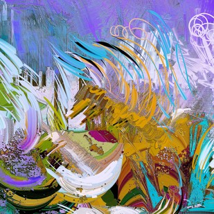 Stroke and Swrills Digital Print by The Print Studio,Abstract