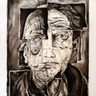 AGE by Suraj Urane, Illustration Painting, Watercolor and charcoal on paper, Brown color