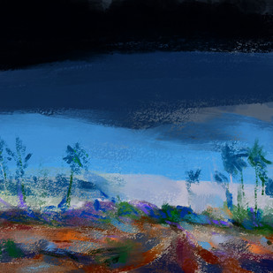 Dark Sky Digital Print by The Print Studio,Expressionism