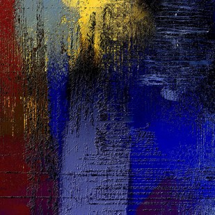 Deep Red Blue Digital Print by The Print Studio,Abstract