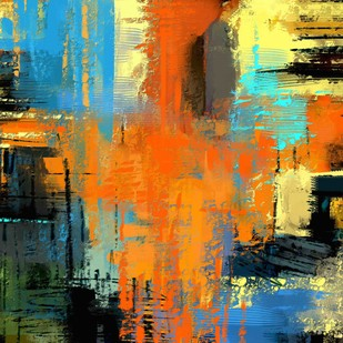Colour Abstract Digital Print by The Print Studio,Abstract