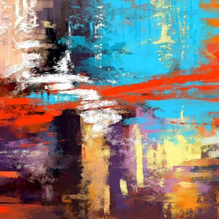 Abstract - 45 by The Print Studio, Abstract Painting, Digital Print on Canvas, Brown color