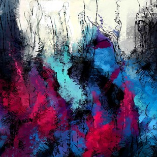 Blue Abstract by The Print Studio, Abstract Painting, Digital Print on Canvas, Blue color