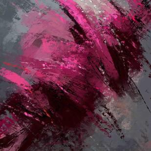 Grey Purple Digital Print by The Print Studio,Abstract