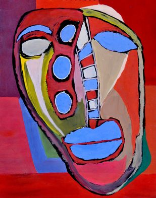 Portrait of Opalina by Manoj Kumar Negi, Expressionism Painting, Tempera on Paper, Brown color