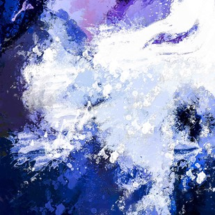 Abstract 56 by The Print Studio, Abstract Painting, Digital Print on Canvas, Blue color
