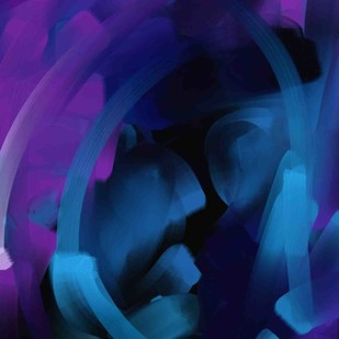 Abstract 66 by The Print Studio, Abstract Painting, Digital Print on Canvas, Blue color
