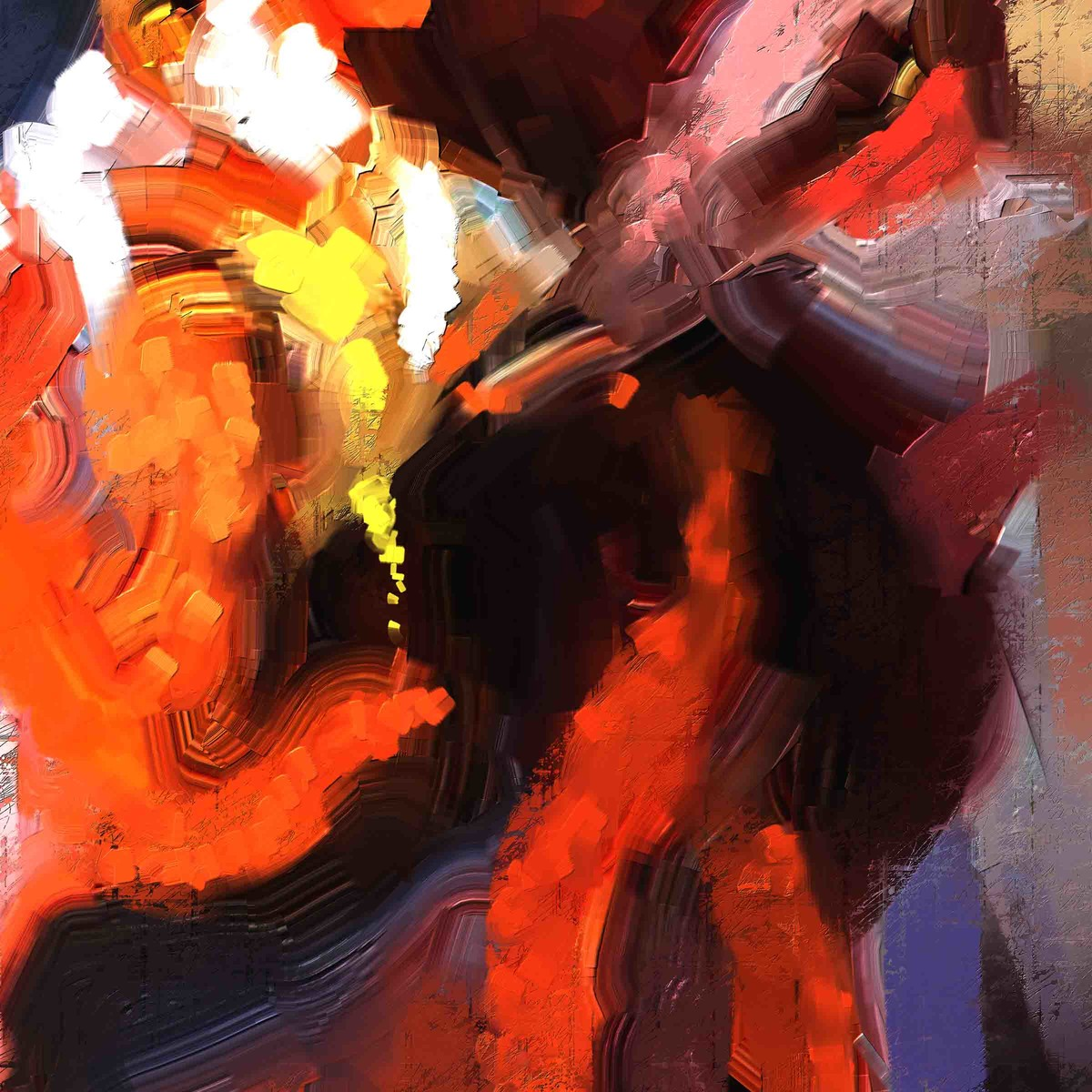 Abstract 74 Digital Print by The Print Studio,Abstract