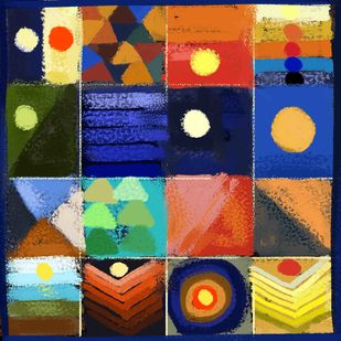 Abstract 77 Digital Print by The Print Studio,Geometrical