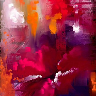 Abstract 79 by The Print Studio, Abstract Painting, Digital Print on Canvas, Pink color
