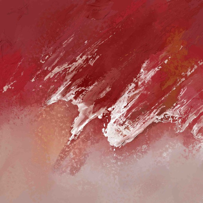 Red Digital Print by The Print Studio,Abstract