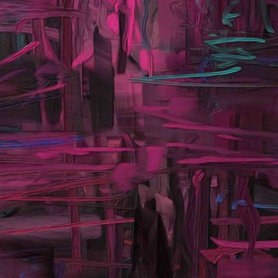 Purple Digital Print by The Print Studio,Abstract