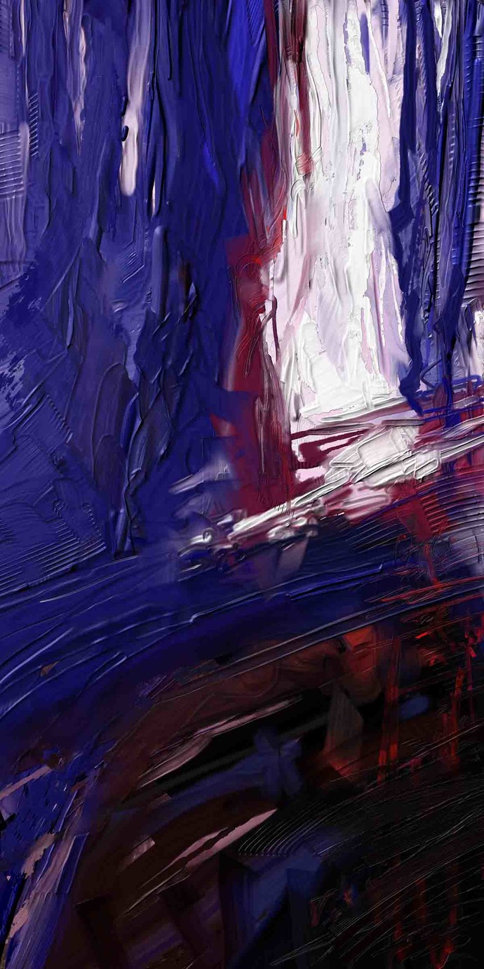 Blue Digital Print by The Print Studio,Abstract