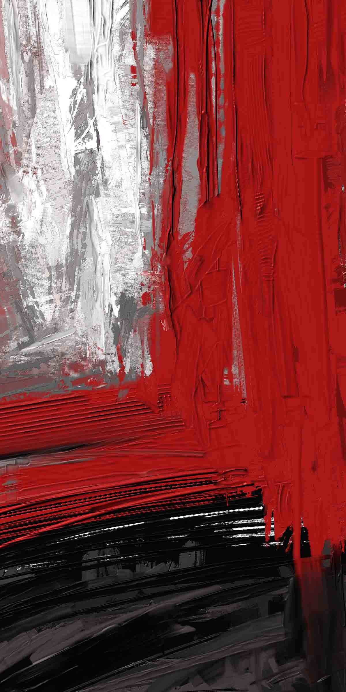 Red Black Digital Print by The Print Studio,Abstract
