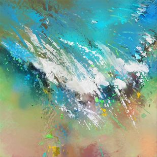 Abstract - 121 Digital Print by The Print Studio,Abstract