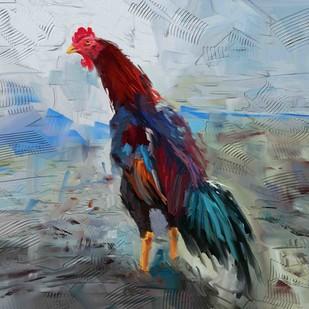 Rooster - 02 Digital Print by The Print Studio,Digital