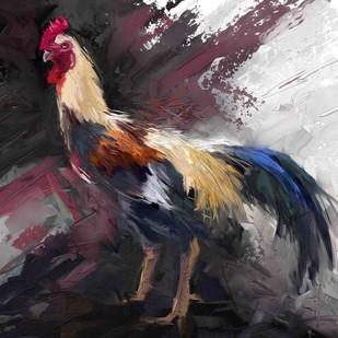 Rooster - 05 Digital Print by The Print Studio,Digital