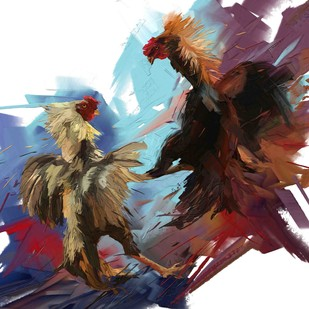 Rooster - 07 Digital Print by The Print Studio,Digital