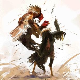 Rooster - 09 Digital Print by The Print Studio,Digital