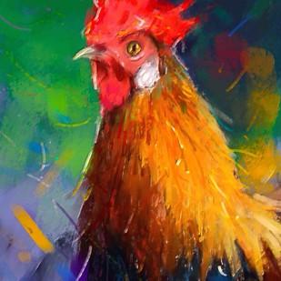 Rooster - 11 Digital Print by The Print Studio,Digital