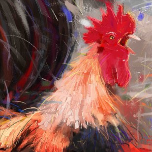 Rooster - 13 Digital Print by The Print Studio,Digital