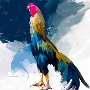 Rooster - 15 Digital Print by The Print Studio,Digital