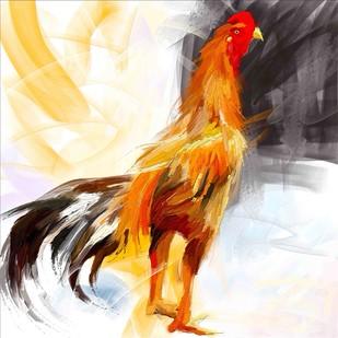 Rooster - 16 Digital Print by The Print Studio,Digital