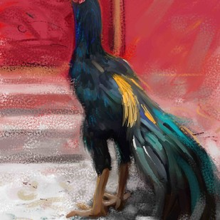 Rooster - 18 Digital Print by The Print Studio,Expressionism