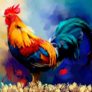 Rooster - 19 Digital Print by The Print Studio,Expressionism