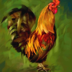 Rooster - 20 Digital Print by The Print Studio,Expressionism