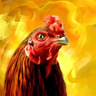 Rooster - 21 Digital Print by The Print Studio,Digital