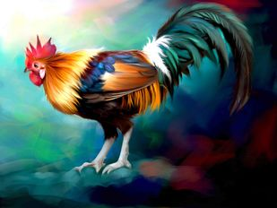 Rooster - 26 Digital Print by The Print Studio,Expressionism
