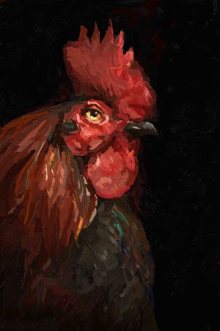 Rooster - 27 Digital Print by The Print Studio,Expressionism
