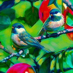 Bird in Tropical Garden Digital Print by The Print Studio,Expressionism