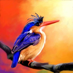 Kingfisher - 10 Digital Print by The Print Studio,Expressionism