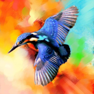 MYSTIC BIRD-24 Digital Print by The Print Studio,Digital
