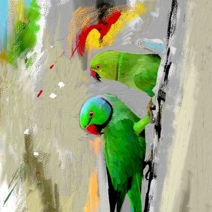 PARROTS-30 Digital Print by The Print Studio,Expressionism