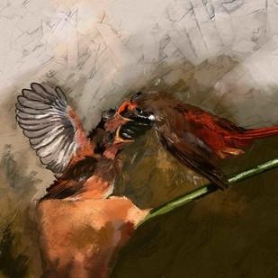 BIRDS-31 Digital Print by The Print Studio,Expressionism