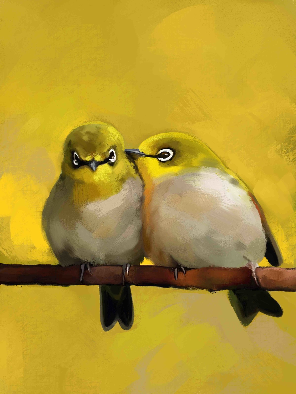 TWO BIRDS-42 Digital Print by The Print Studio,Expressionism