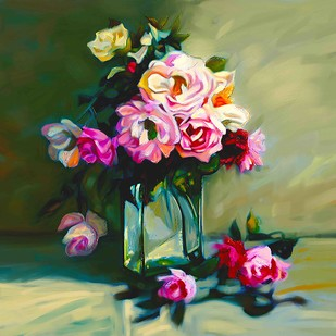 Still Life With Flowers - 03 Digital Print by The Print Studio,Expressionism