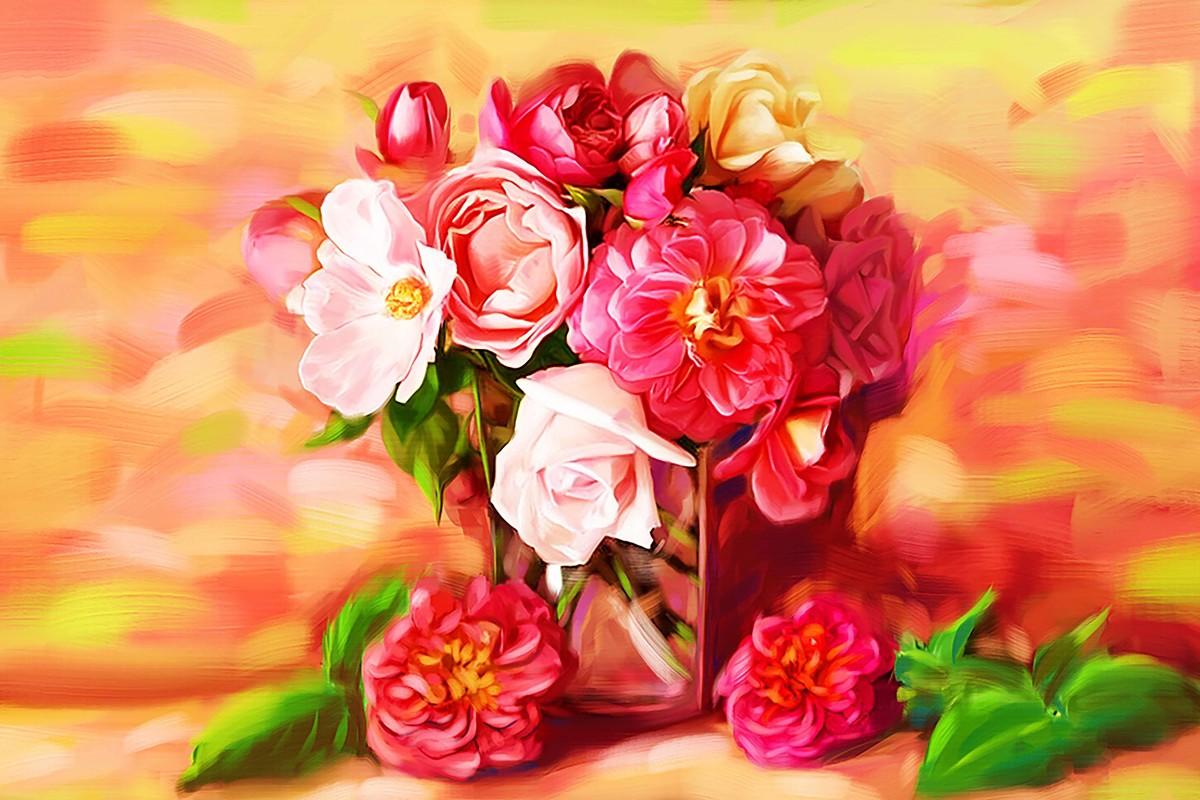 Roses - 16 Digital Print by The Print Studio,Digital