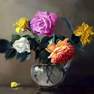 Still Life with Flowers - 24 Digital Print by The Print Studio,Impressionism