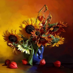 Still Life with Flowers - 25 Digital Print by The Print Studio,Impressionism