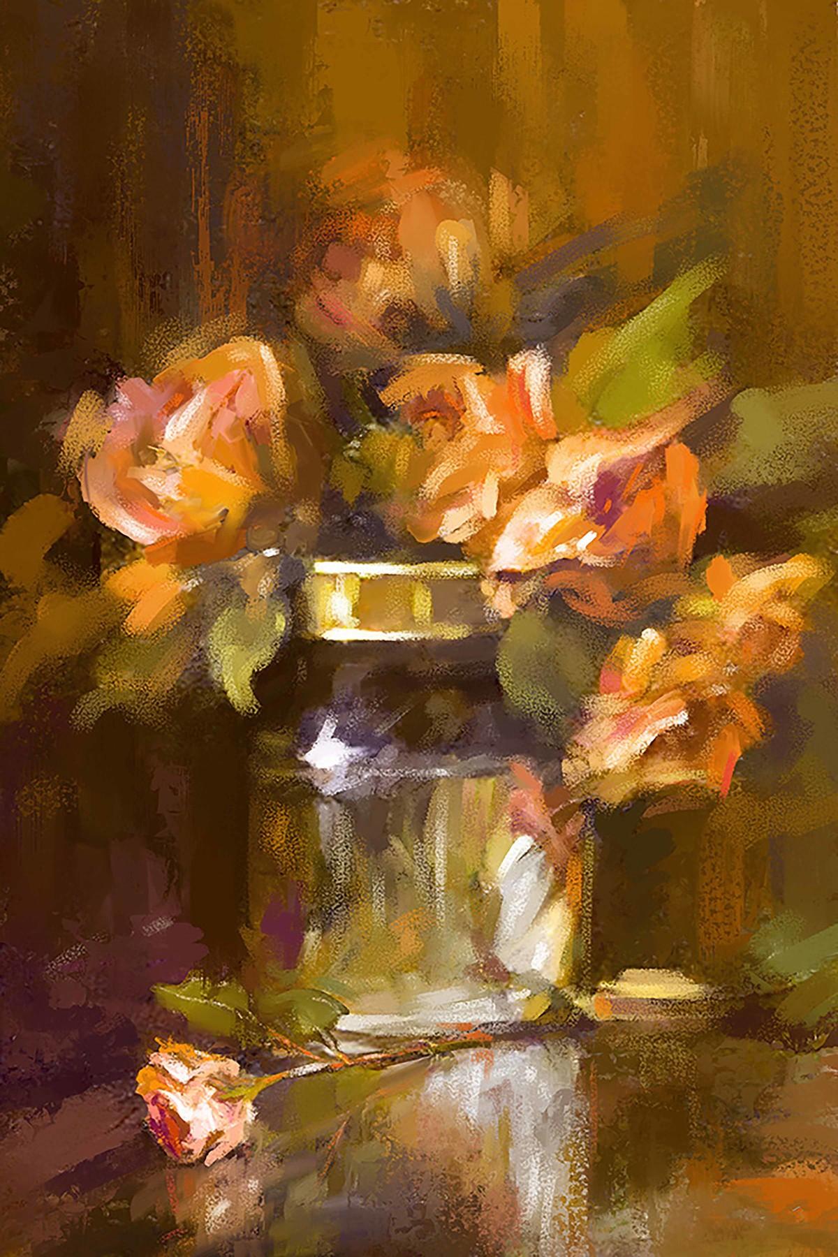 Still Life with Flowers - 27 Digital Print by The Print Studio,Digital
