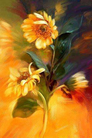 Sunflower Digital Print by The Print Studio,Expressionism
