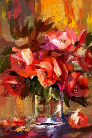 Still Life with Flowers - 33 Digital Print by The Print Studio,Expressionism