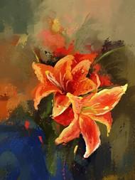 Flowers - 34 Digital Print by The Print Studio,Digital