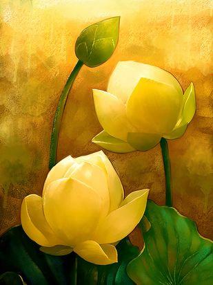 Lotus - 43 Digital Print by The Print Studio,Digital