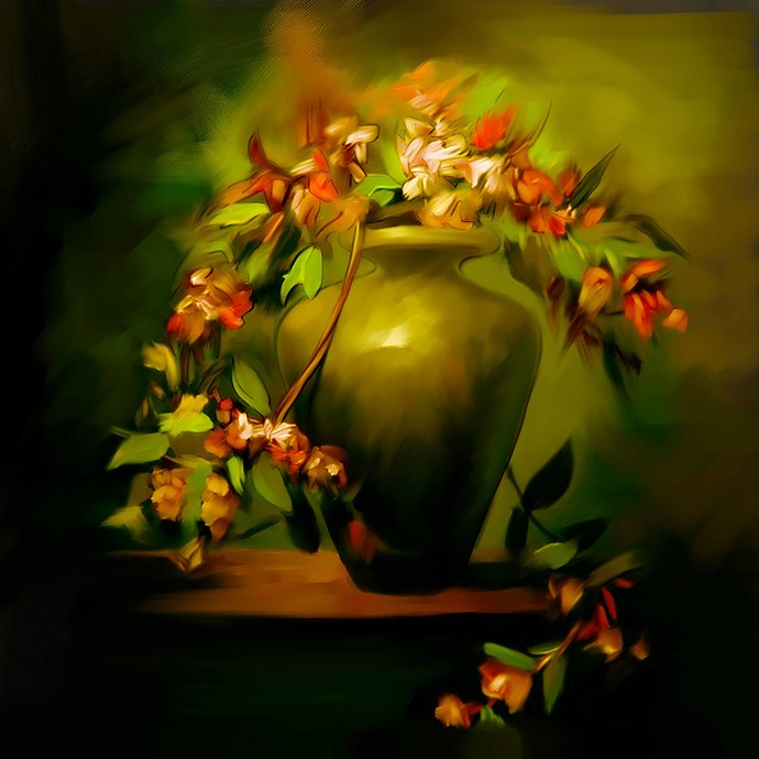 Still Life with Flowers - 47 Digital Print by The Print Studio,Digital